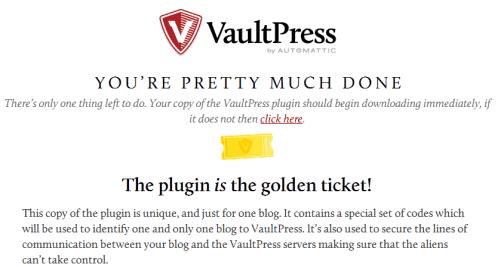 Download Vaultpress