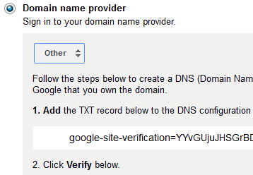 Verify DNS Txt