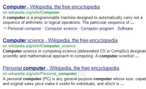 wikipedia results