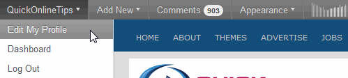 wordpress admin bar