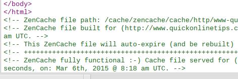 wordpress caching code
