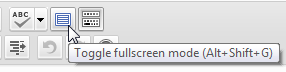 wordpress full screen button
