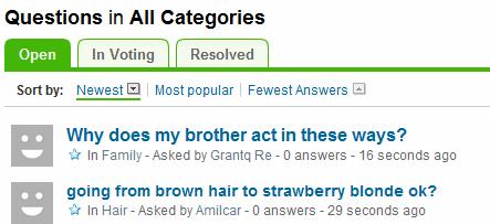 yahoo answers open