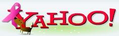 Yahoo! breast cancer logo